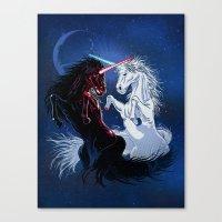 Unicorn Wars Canvas Print