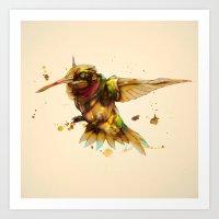android hummingbird Art Print