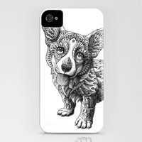 iPhone 4s & iPhone 4 Cases featuring Corgi Puppy by BIOWORKZ