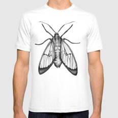 Wasp Moth Mens Fitted Tee White SMALL