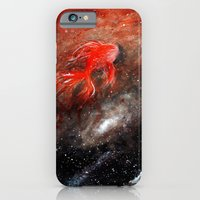 iPhone & iPod Case featuring goldfish cosmos by Betul Donmez