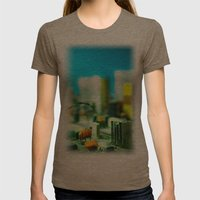 City Womens Fitted Tee Tri-Coffee SMALL