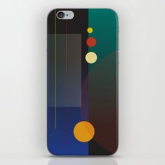 Circles, Lines, Squares - Abstract Design iPhone & iPod Skin