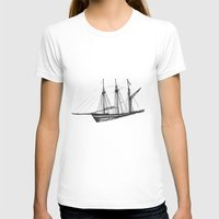 ship T-shirts featuring Ship by GalaArt