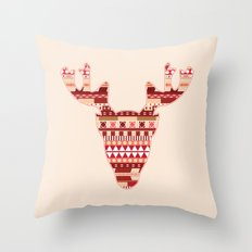 Christmas Reindeer. Throw Pillow