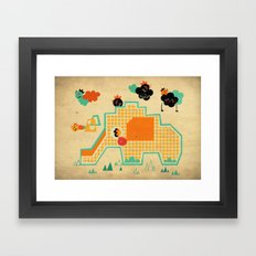 Elephant Playground Framed Art Print