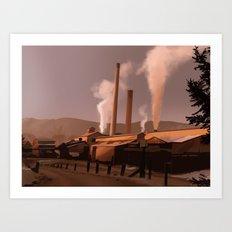 Sawmill Art Print