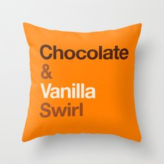 Chocolate & Vanilla Swirl OITNB Throw Pillow