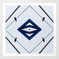 diamond crows Art Print