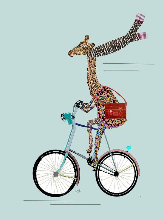 Giraffes School Days  Canvas Print
