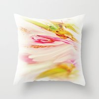 Twisted Blossom 2 Pink Throw Pillow