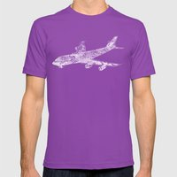 Boing 747 Mens Fitted Tee Ultraviolet SMALL