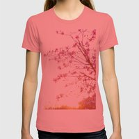 Sun-Drenched Womens Fitted Tee Pomegranate SMALL