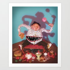 The Tummy Beast Art Print