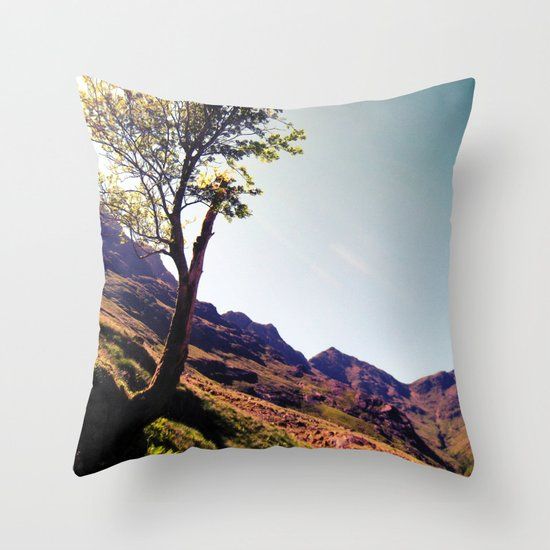 tree side. Throw Pillow