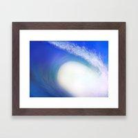 Splash Wave Framed Art Print