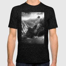 On Top of the World Mens Fitted Tee Tri-Black SMALL