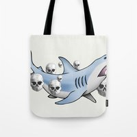 Shark & Skulls Tote Bag