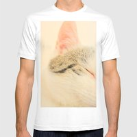 Peachy Kitty Mens Fitted Tee White SMALL