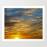 October Sunset Art Print