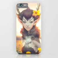princess iPhone & iPod Cases featuring Deer Princess by Artgerm™