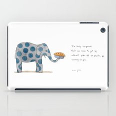 polka dot elephants serving us pie iPad Case