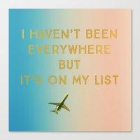 My List Canvas Print