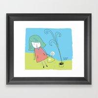 Un Poco Cada Día Framed Art Print