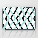 Pattern, turquoise and black iPad Case