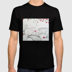 Flying Pigs Mens Fitted Tee Black SMALL