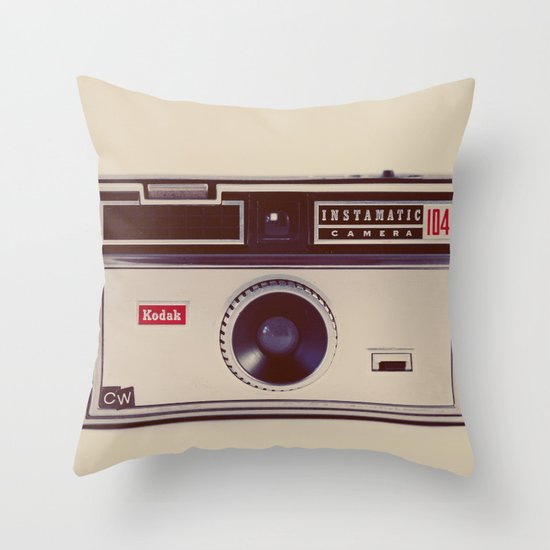 Instamatic Throw Pillow
