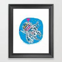 I Love You But Framed Art Print