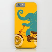 iPhone & iPod Case featuring Elephant on the bike by Tatiana Obukhovich