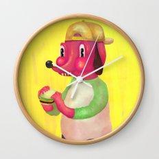 my kind of burger Wall Clock