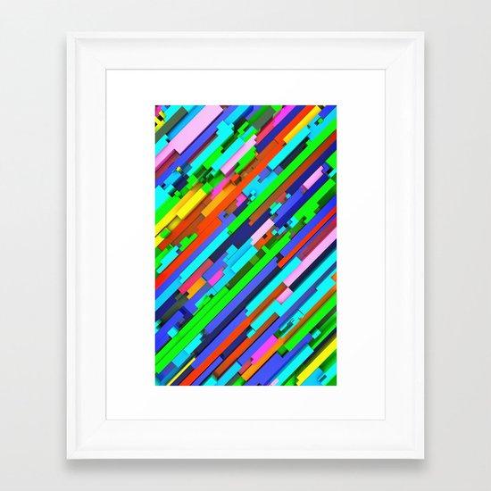 NeonGlitch 3.0 Framed Art Print