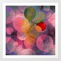 BALLOON LOVE  - Wish to be Happy Art Print
