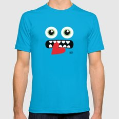 EYE EAT Mens Fitted Tee Teal SMALL