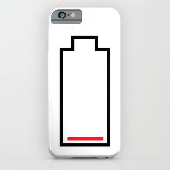 Empty Battery iPhone & iPod Case