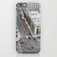 iPhone & iPod Case featuring Michigan Ave & Griswold - Detroit, MI by Michelle & Chris Gerard