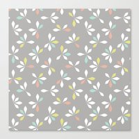 loves me loves me not pattern - pastel Canvas Print