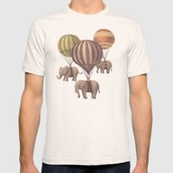 Flight Of The Elephants  Mens Fitted Tee Natural MEDIUM