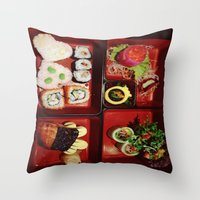 Cute Bento Throw Pillow