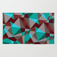 Triangle cubes Rug