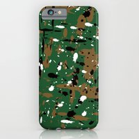 iPhone & iPod Case featuring camo by Panic Junkie