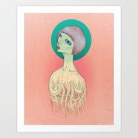 Unravel Art Print
