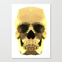 Polygon Heroes - Gold Sk… Canvas Print
