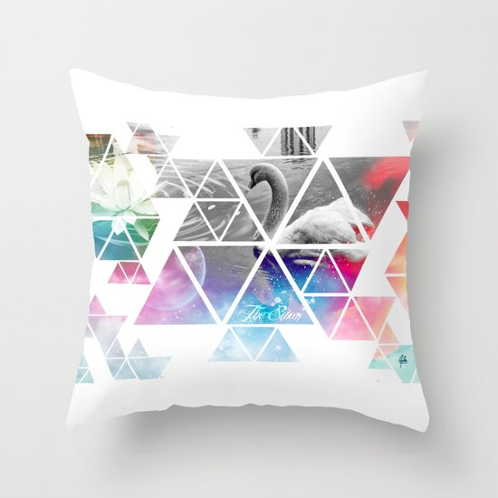 THE SWAN Throw Pillow