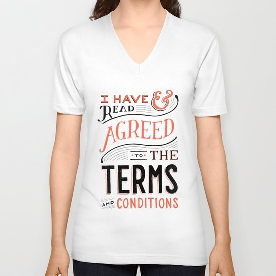Terms and Conditions V-neck T-shirt