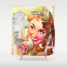 Wait a minute, I'll be right back Shower Curtain