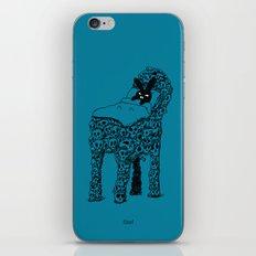 The Black Bunny of Doom in his bed of skulls iPhone & iPod Skin